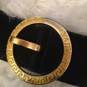 Versace Vintage Black Suede belt sz L
